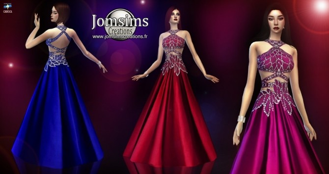 Sims 4 Zezelle dress at Jomsims Creations