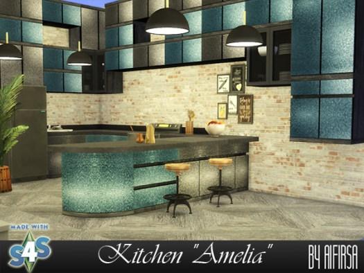 Amelia kitchen at Aifirsa image 1814 Sims 4 Updates
