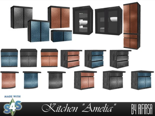 Amelia kitchen at Aifirsa image 1821 Sims 4 Updates