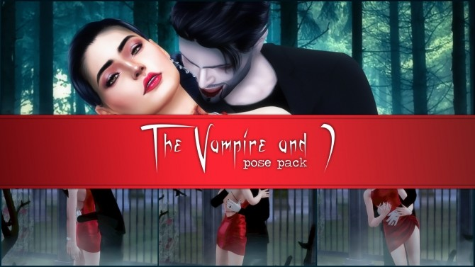 The Vampire and I pose pack at Katverse image 1829 670x377 Sims 4 Updates