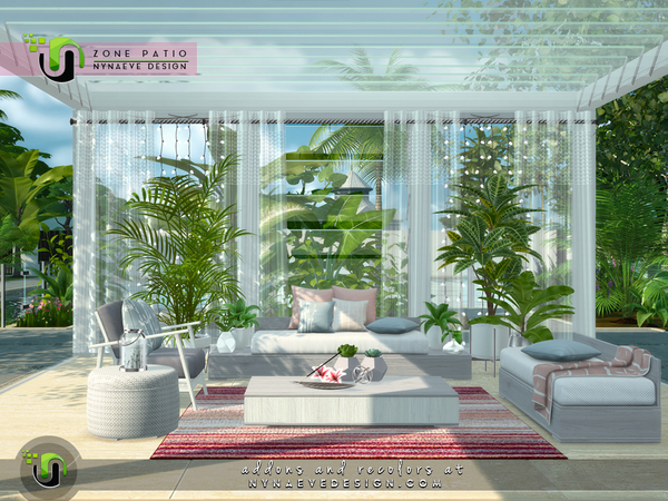 Zone Patio by NynaeveDesign at TSR image 1840 Sims 4 Updates
