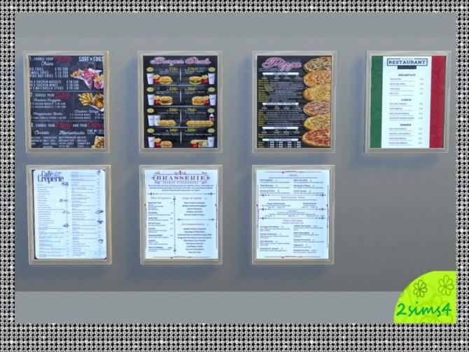Sims 4 7 food menu by lurania at Mod The Sims
