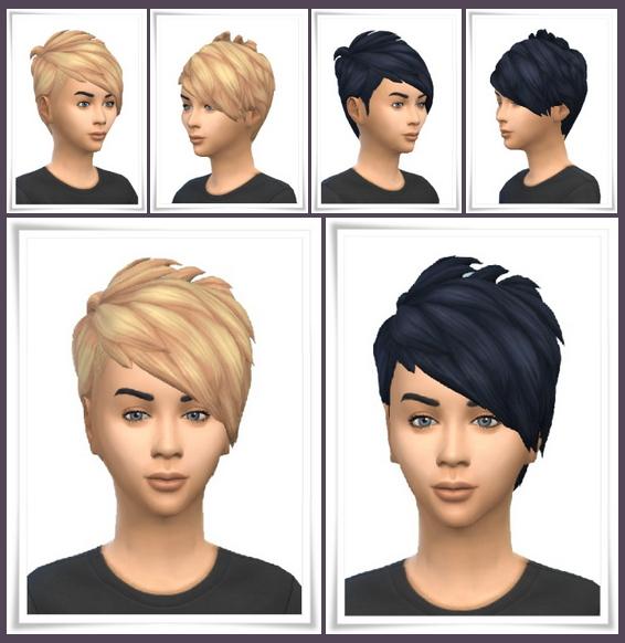 Sims 4 Kids Slashed Hair at Birksches Sims Blog