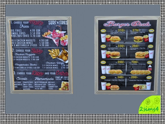 7 food menu by lurania at Mod The Sims image 1866 670x503 Sims 4 Updates