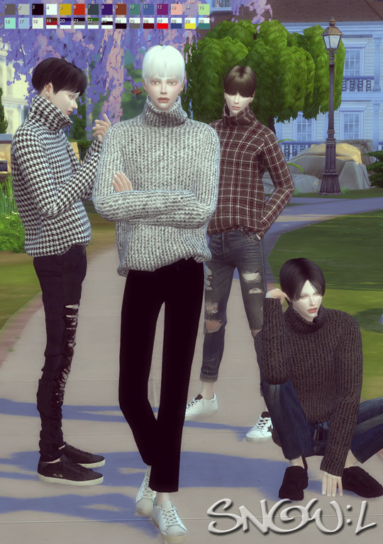 MT turtleneck sweater at SNOW:L image 1892 Sims 4 Updates