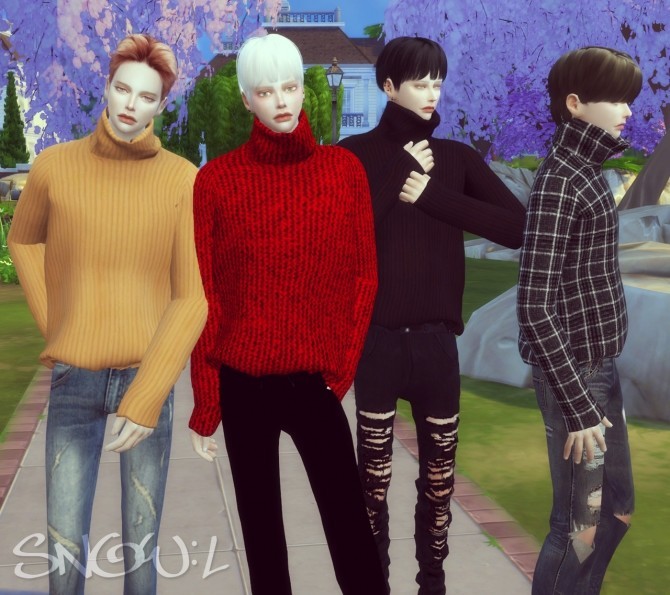Sims 4 MT turtleneck sweater at SNOW:L