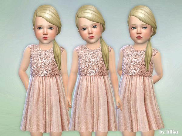 Sims 4 Safir Toddler Dress by lillka at TSR