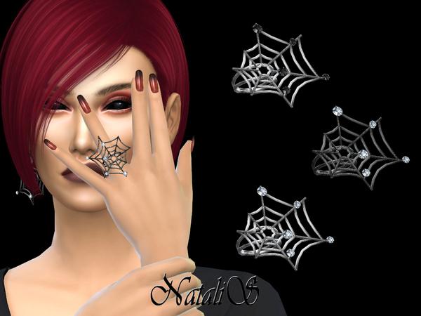 Sims 4 Spiderweb ring by NataliS at TSR