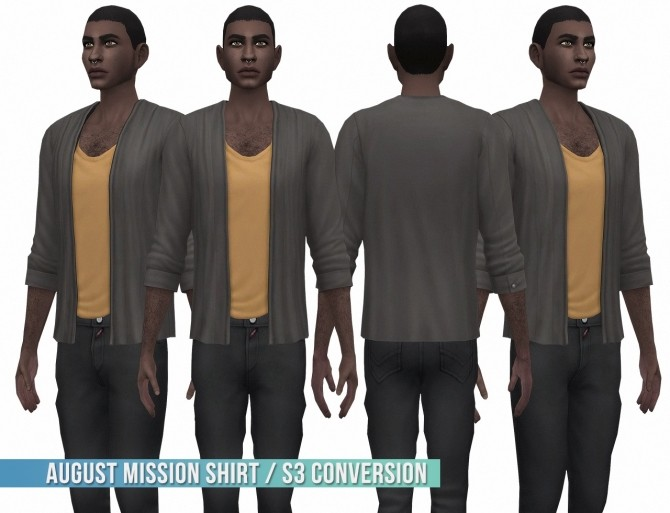 Sims 4 August Mission Shirt S3 Conversion at Busted Pixels