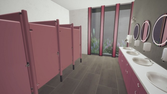 Sims 4 Animated & Functional Bathroom Stalls by DreamaDove at Mod The Sims