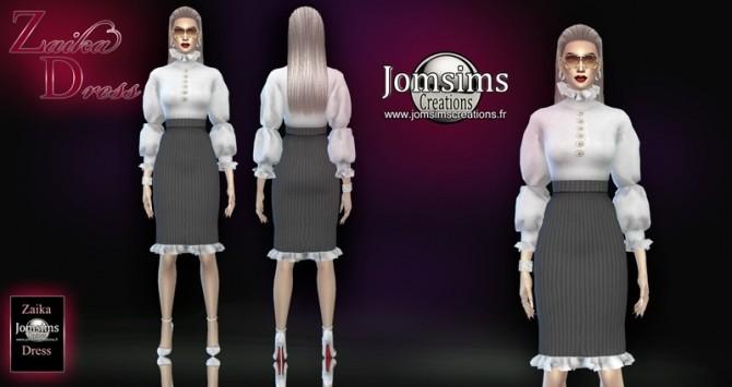 Zaika dress at Jomsims Creations image 1974 670x355 Sims 4 Updates