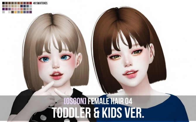 Female Hair 04 Toddler & Kids at Osoon image 1982 670x419 Sims 4 Updates