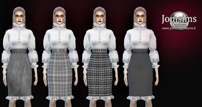 Zaika dress at Jomsims Creations image 1984 670x355 Sims 4 Updates