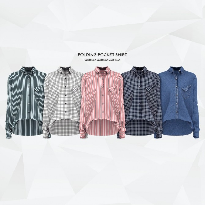 Folding Pocket Shirt at Gorilla image 1992 670x670 Sims 4 Updates