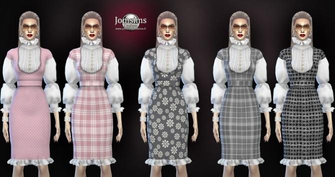 Zaika dress at Jomsims Creations image 1994 670x355 Sims 4 Updates