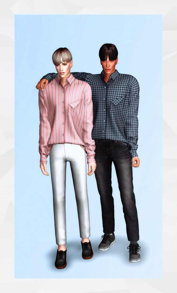 Folding Pocket Shirt at Gorilla image 2002 606x1000 Sims 4 Updates
