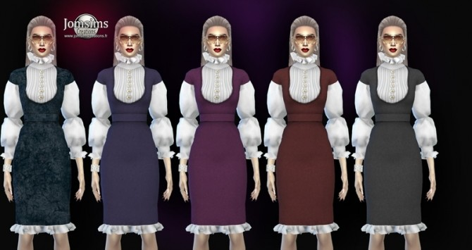 Sims 4 Zaika dress at Jomsims Creations