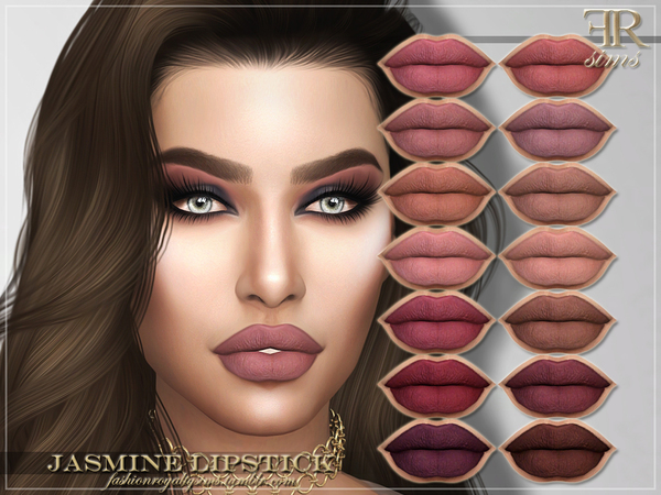 Sims 4 FRS Jasmine Lipstick by FashionRoyaltySims at TSR