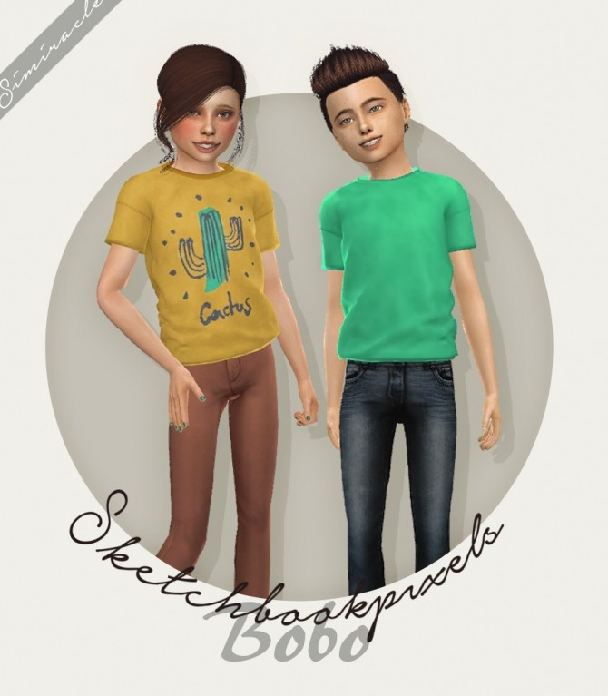 Sketchbookpixels Bobo shirt for kids 3T4 at Simiracle image 2083 670x767 Sims 4 Updates