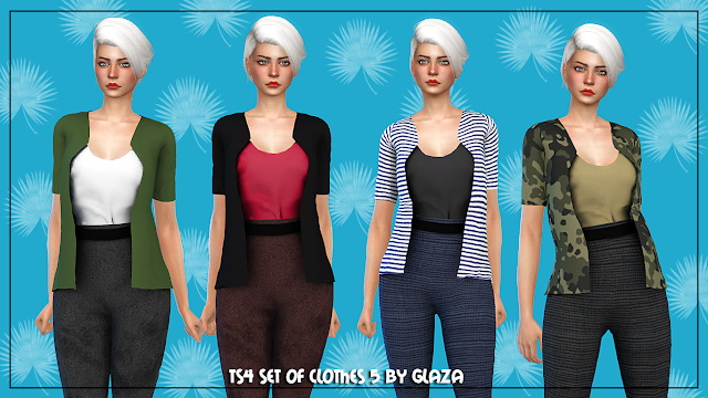Outfit 5 at All by Glaza image 2085 Sims 4 Updates