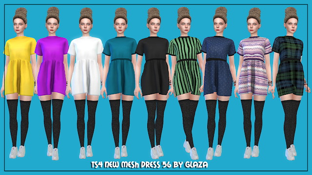Dress 56 at All by Glaza image 209 Sims 4 Updates