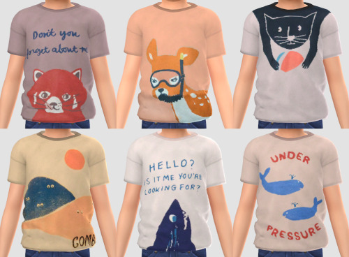 Sketchbookpixels Bobo shirt for kids 3T4 at Simiracle image 2093 Sims 4 Updates