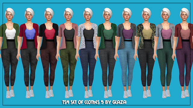 Outfit 5 at All by Glaza image 2095 Sims 4 Updates