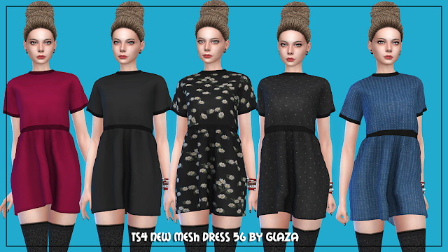 Dress 56 at All by Glaza image 210 Sims 4 Updates