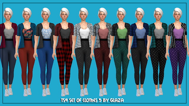 Outfit 5 at All by Glaza image 21011 Sims 4 Updates