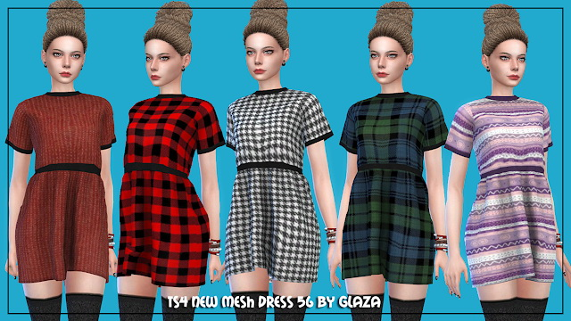 Dress 56 at All by Glaza image 211 Sims 4 Updates