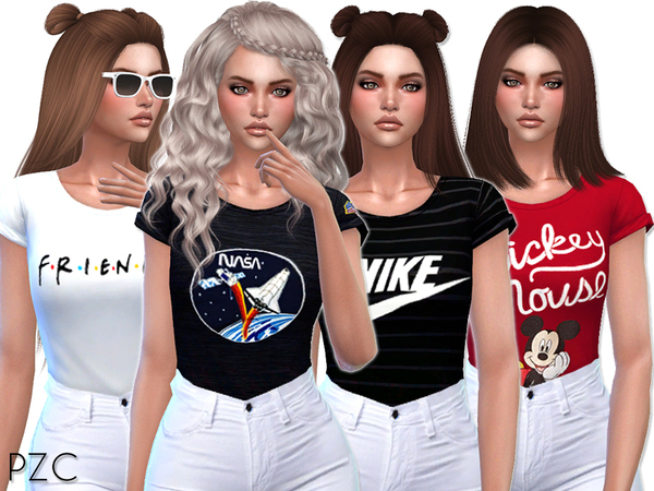 Cute T shirts Collection 02 by Pinkzombiecupcakes at TSR image 2111 Sims 4 Updates