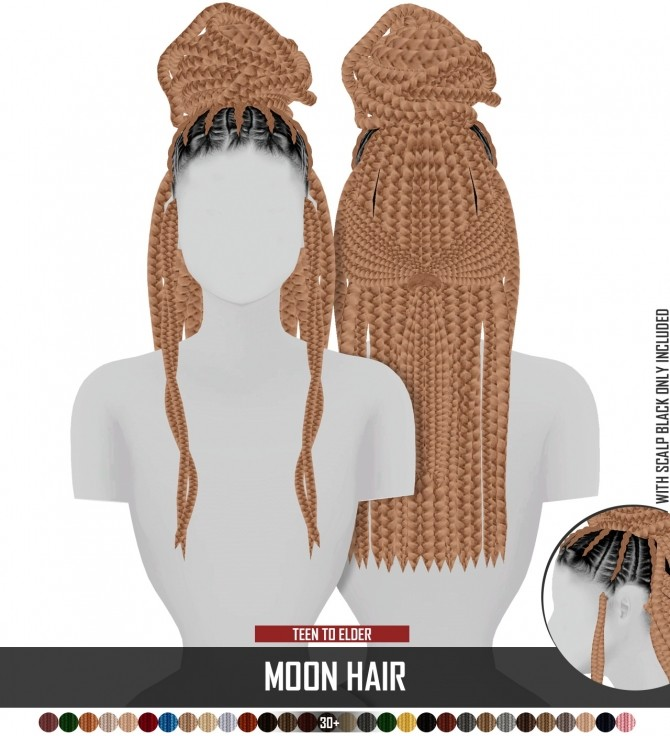 MOON HAIR by Thiago Mitchell at REDHEADSIMS image 2116 670x736 Sims 4 Updates