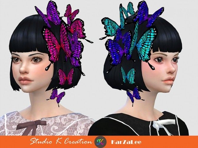 Darksouls head butterfly acc at Studio K Creation image 2128 670x502 Sims 4 Updates