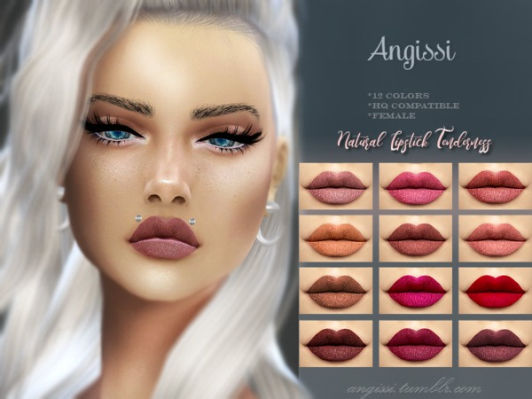 Natural Lipstick Tenderness by ANGISSI at TSR image 2130 Sims 4 Updates