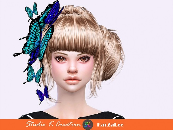 Darksouls head butterfly acc at Studio K Creation image 2134 670x502 Sims 4 Updates