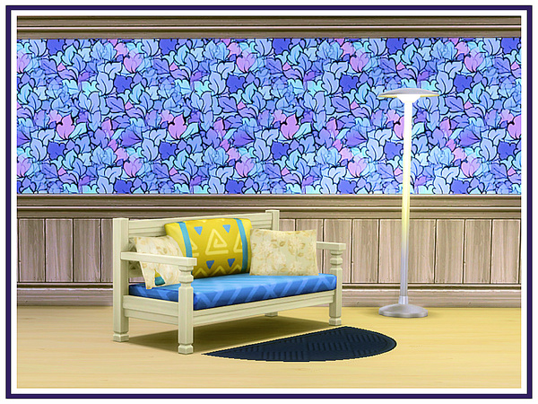 Blue Abstracts Walls by marcorse at TSR image 2135 Sims 4 Updates