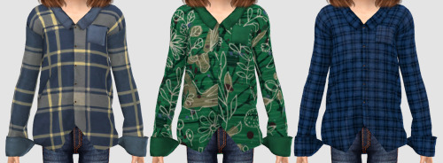 Sketchbookpixels Piper 3T4 plaid shirt for kids at Simiracle image 2143 Sims 4 Updates