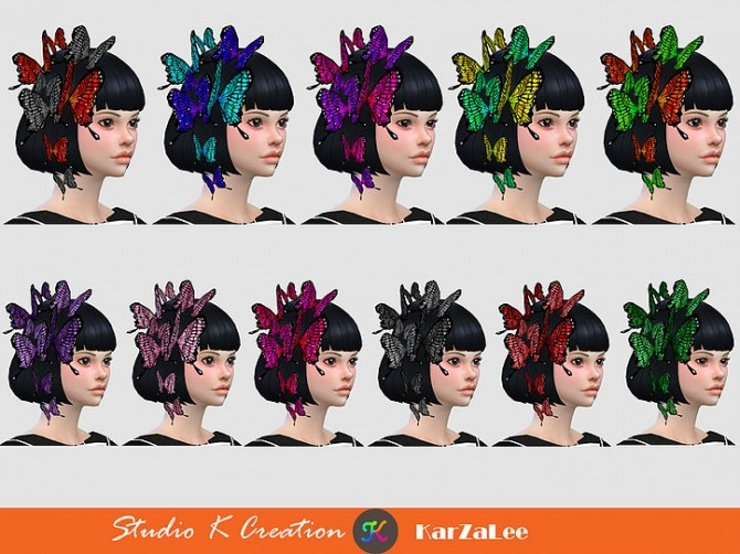 Darksouls head butterfly acc at Studio K Creation image 2144 670x502 Sims 4 Updates