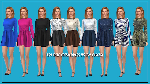 Dress 59 at All by Glaza image 2152 Sims 4 Updates
