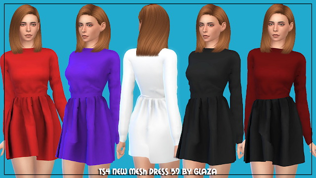 Sims 4 Dress 59 at All by Glaza