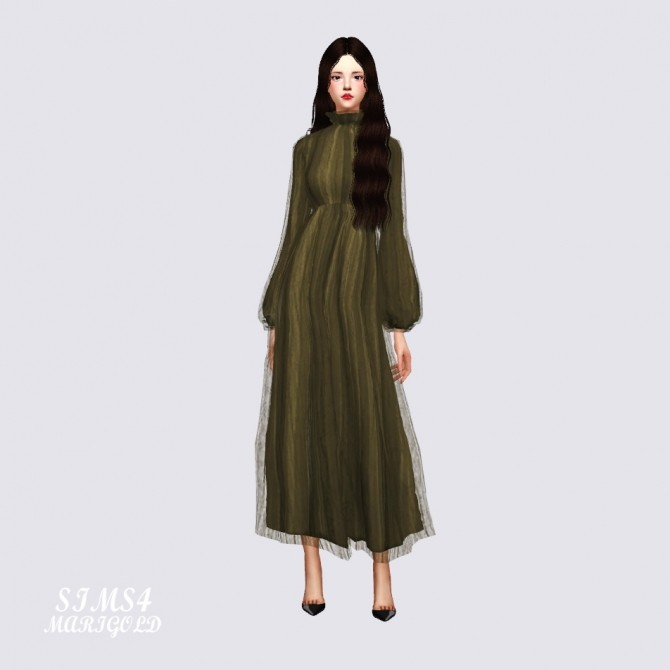 Long Chiffon Dress at Marigold image 2164 670x670 Sims 4 Updates