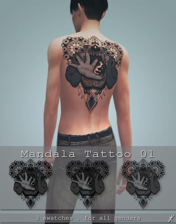 Mandala tattoo 01 at Quirky Kyimu image 2171 Sims 4 Updates