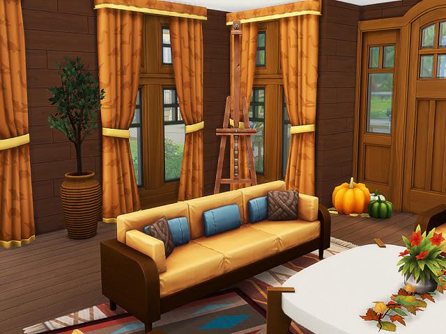 Sims 4 Augelia Autumn House at MSQ Sims