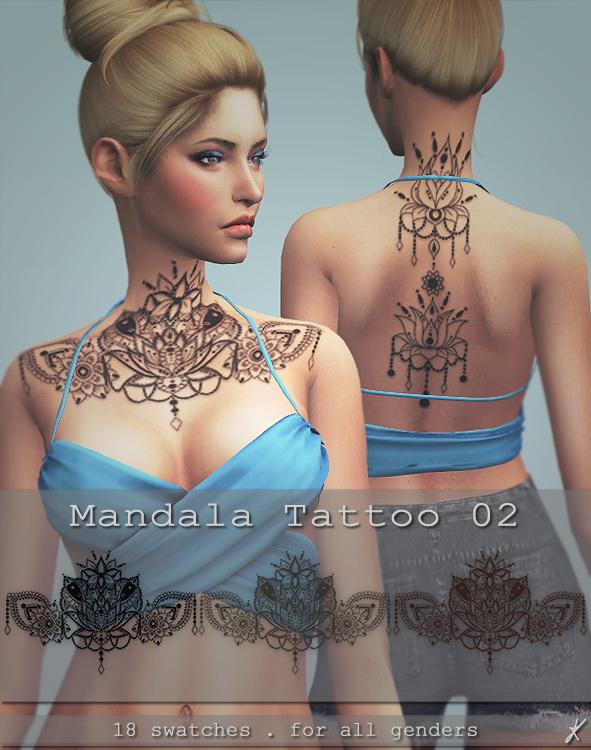 Mandala tattoo 02 at Quirky Kyimu image 2181 Sims 4 Updates