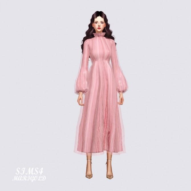 Long Chiffon Dress at Marigold image 2184 670x670 Sims 4 Updates