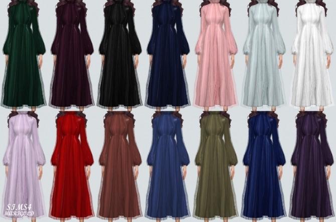 Long Chiffon Dress at Marigold image 2194 670x443 Sims 4 Updates