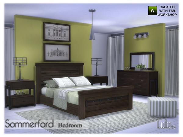 Sommerford Bedroom by Lulu265 at TSR image 22 Sims 4 Updates