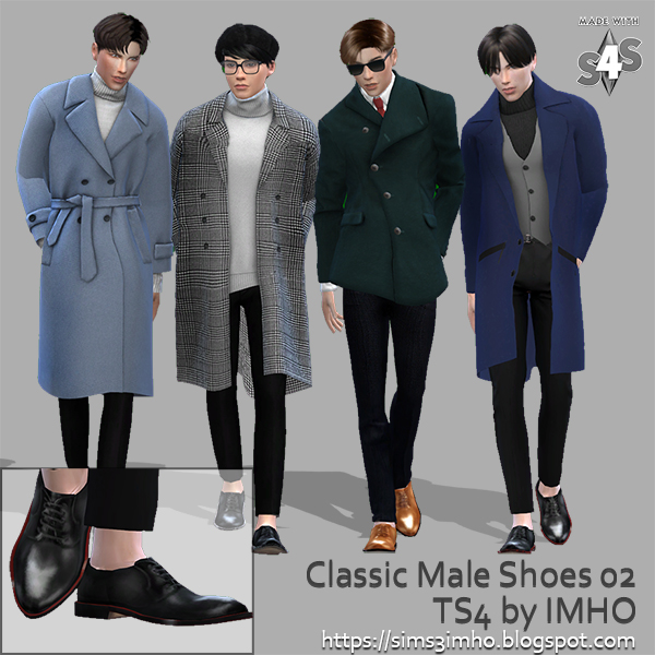 Classic Male Shoes #02 at IMHO Sims 4 image 220 Sims 4 Updates