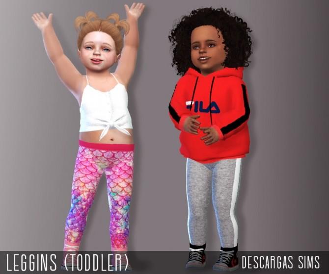 Sims 4 Leggings Toddler at Descargas Sims