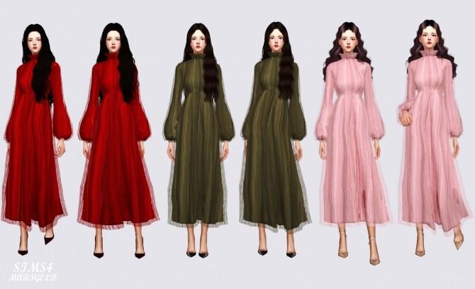 Long Chiffon Dress at Marigold image 2204 670x408 Sims 4 Updates